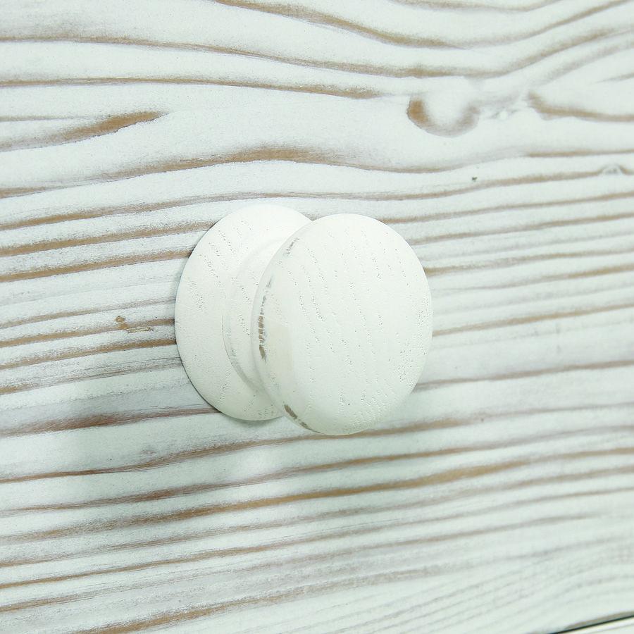 Commode 5 tiroirs en épicéa nuage de blanc - Natural