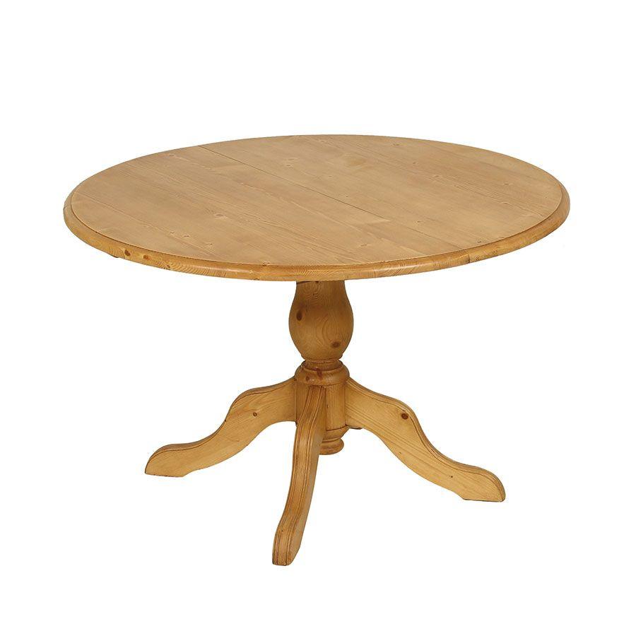 Table ronde extensible en épicéa naturel ciré 8 personnes - Natural