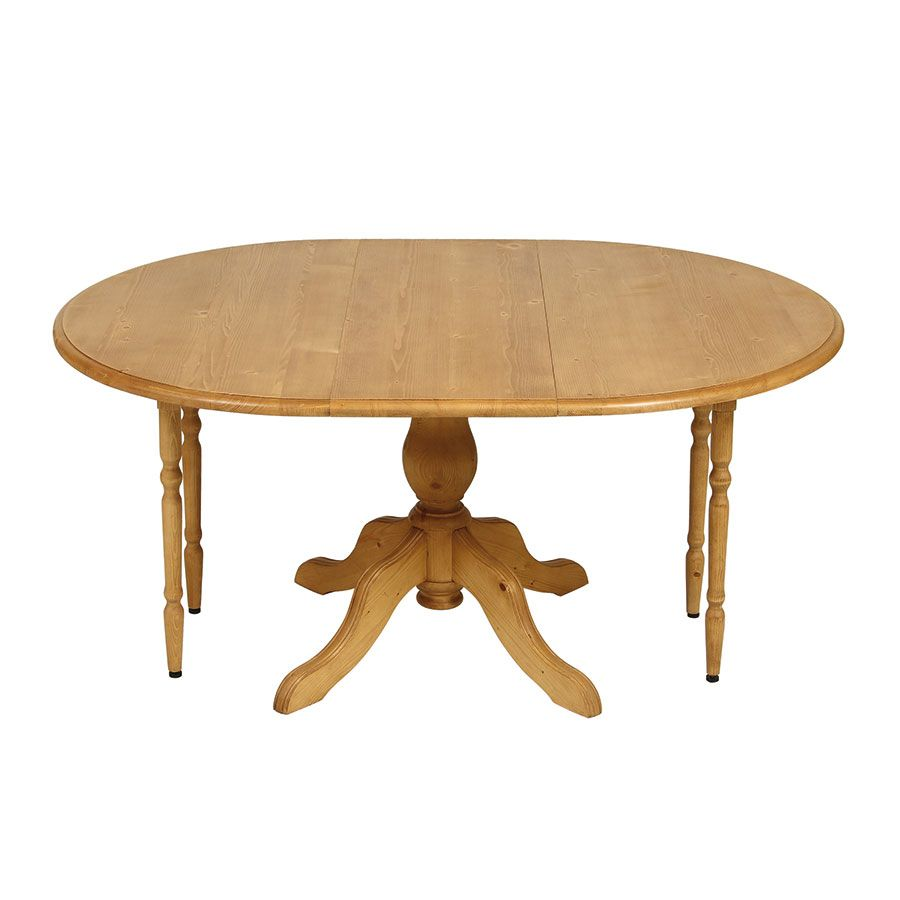 Table ronde extensible en épicéa naturel ciré 8 personnes - Natural