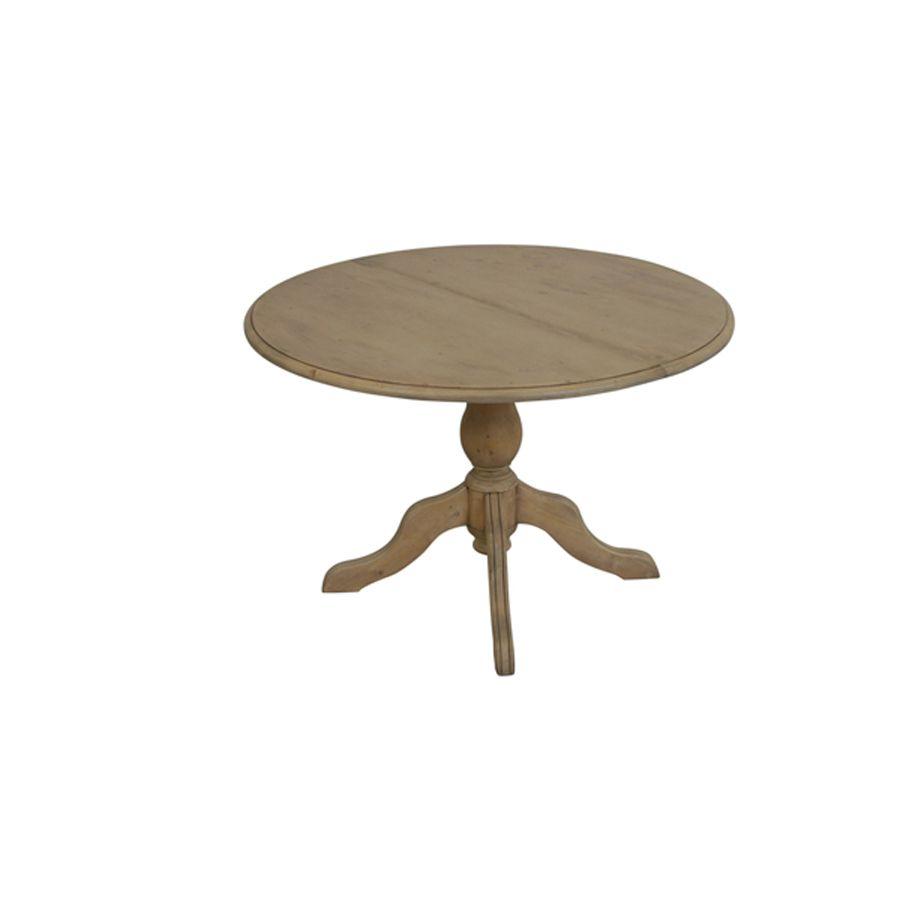 Table ronde extensible en épicéa 7 personnes - Natural