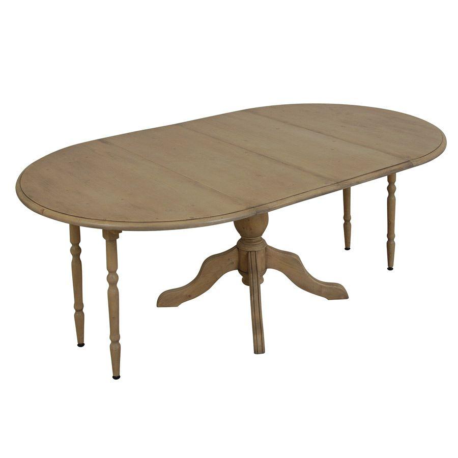 Table ronde extensible en épicéa 8 personnes - Natural