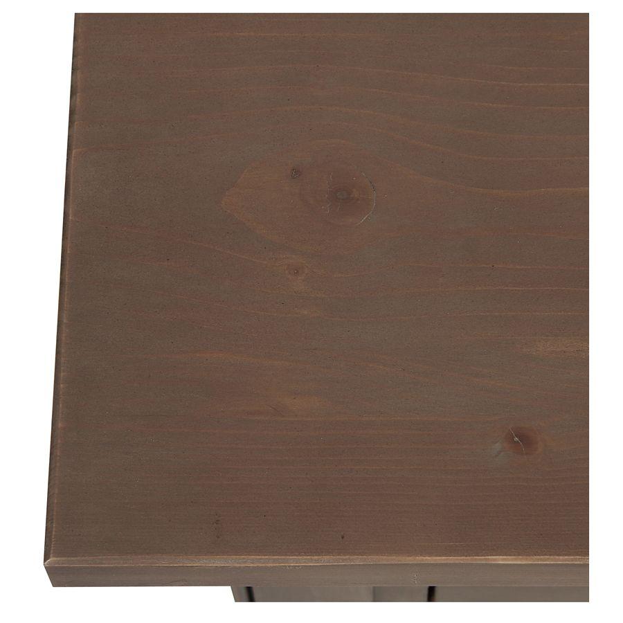 Console 3 tiroirs en épicéa brun fumé - First