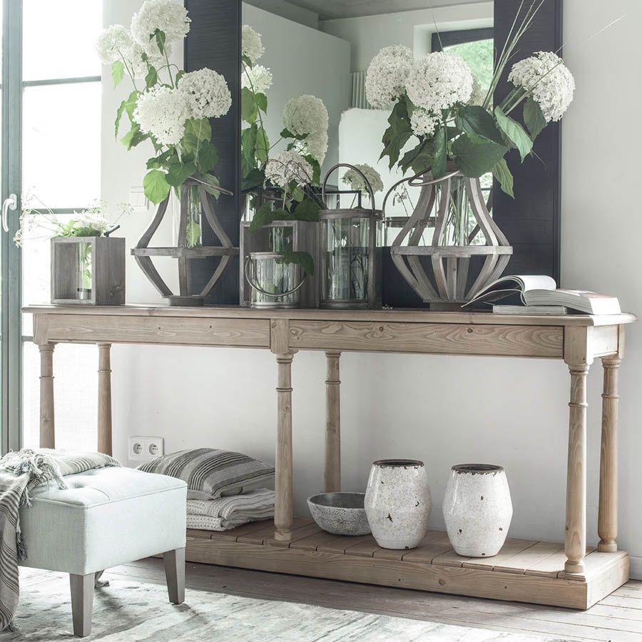 Table drapier 2 tiroirs en épicéa massif - Natural