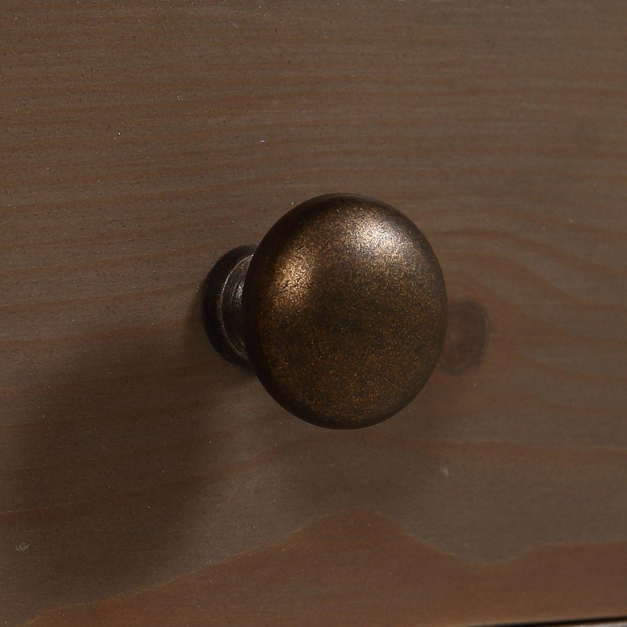 Bout de canapé contemporain en épicéa brun fumé grisé - First