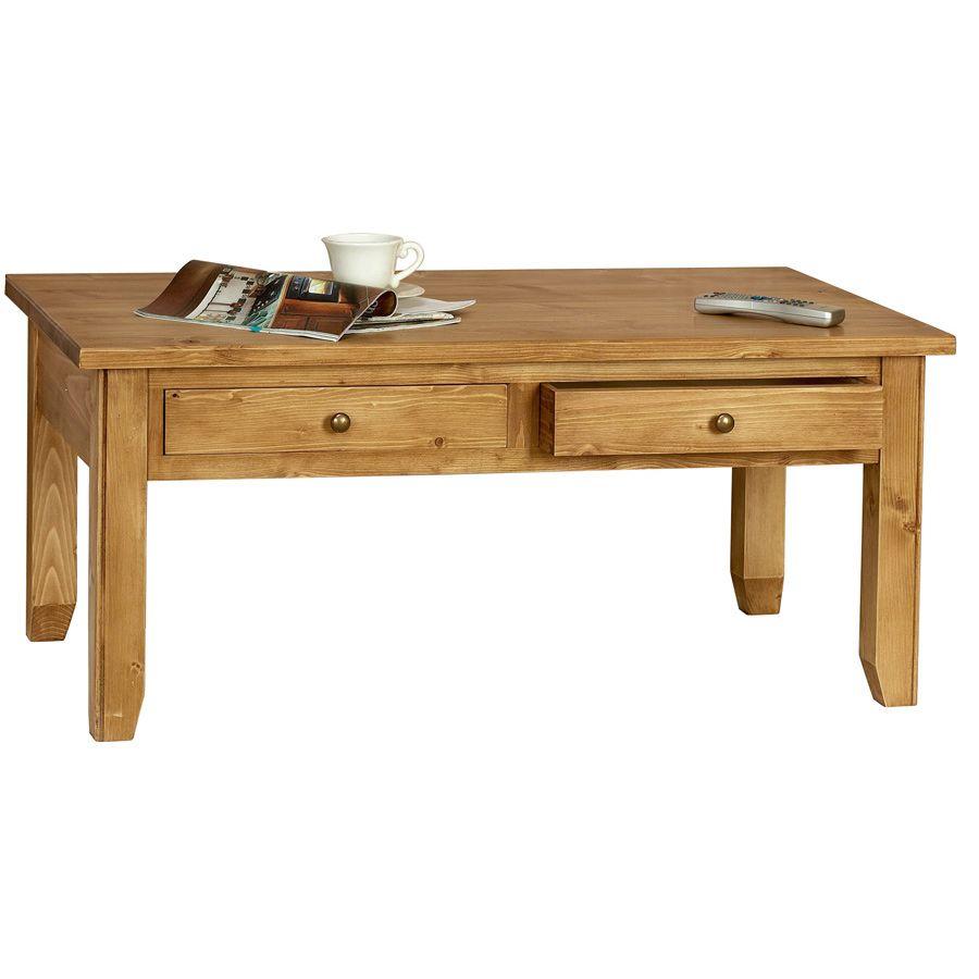 Table basse rectangulaire contemporaine en épicéa - First