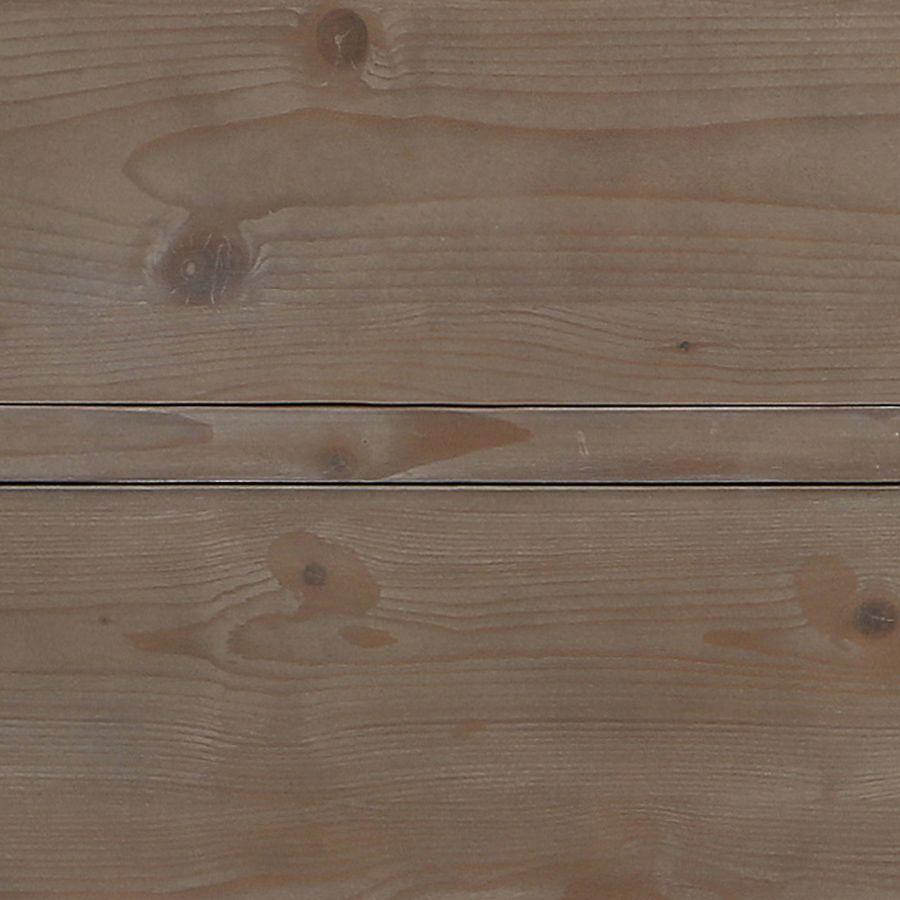 Armoire penderie bonnetière 1 porte brun fumé en épicéa - First