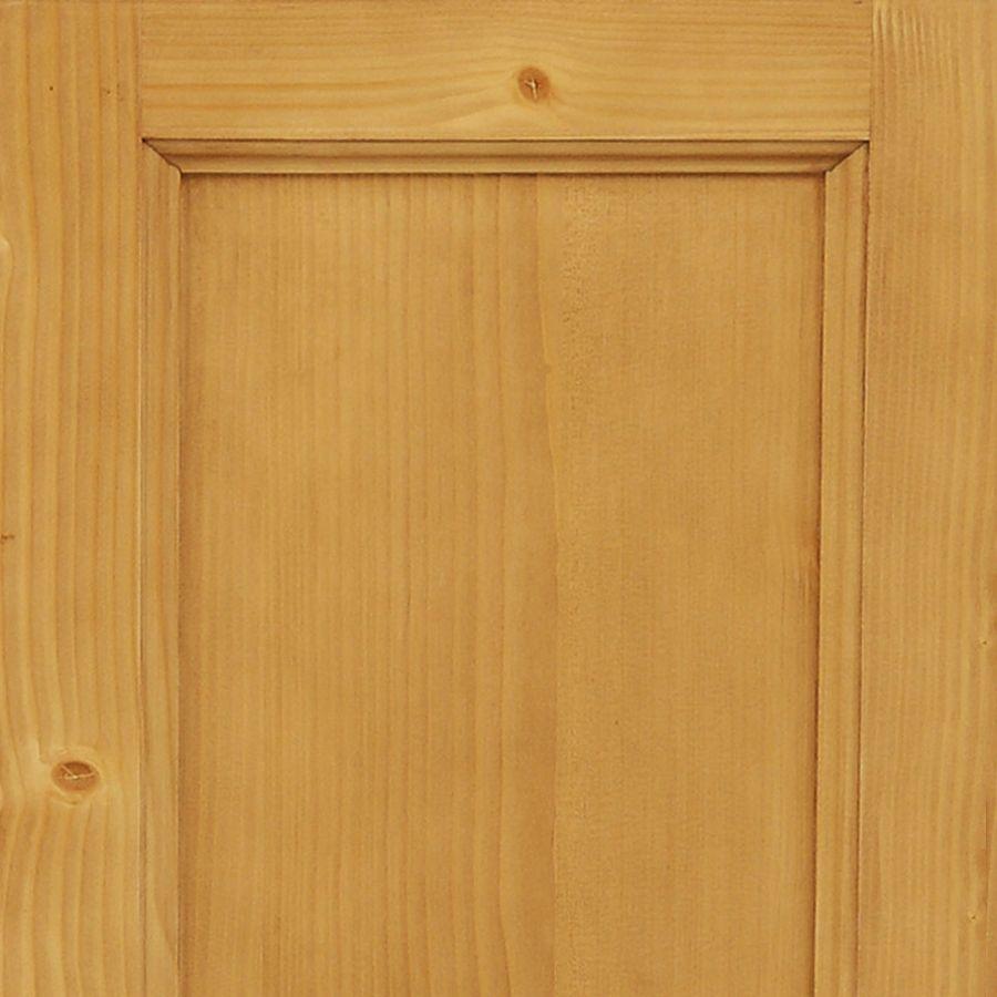 Buffet bas 3 tiroirs portes persiennes en épicéa naturel ciré - Natural