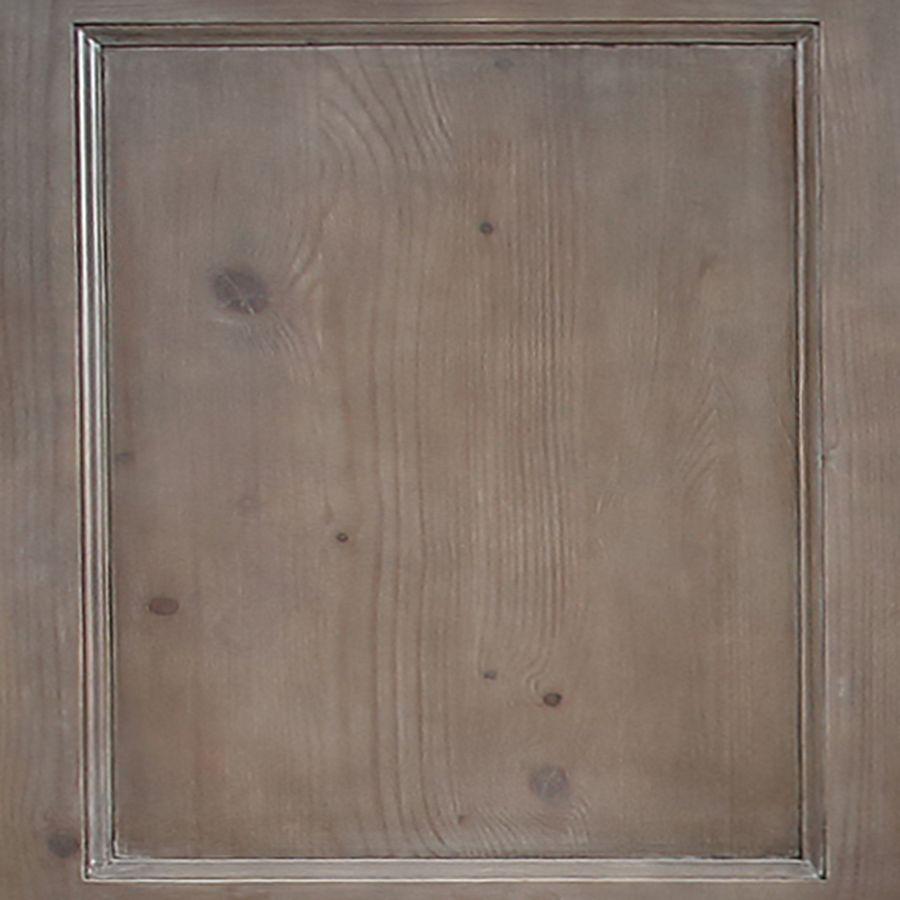 Buffet bas en épicéa brun fumé grisé 3 portes vitrées croisillons - Natural