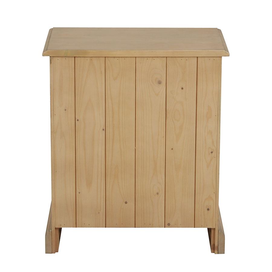 Table de chevet en épicéa naturel cendré - Natural
