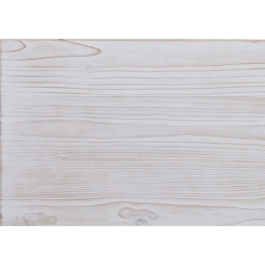 Buffet 3 portes vitrées en épicéa massif nuage de blanc - Natural