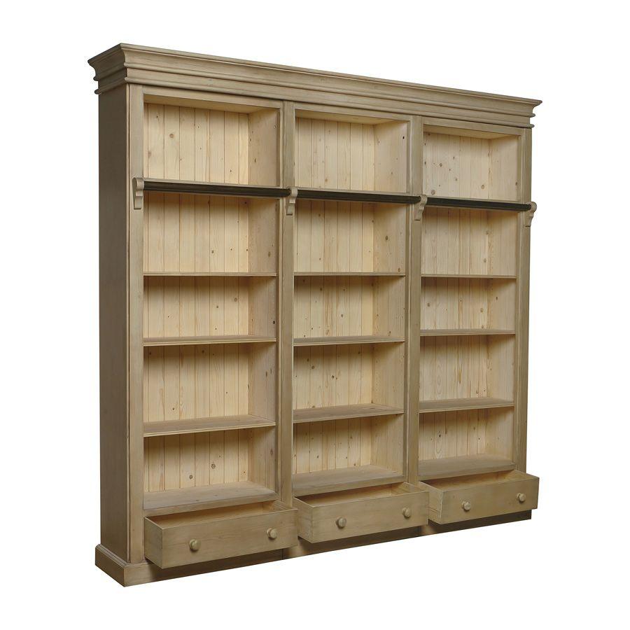 Bibliothèque en épicéa massif - First