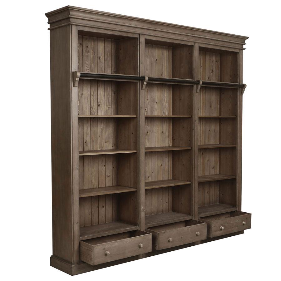 Bibliothèque avec échelle en épicéa - First