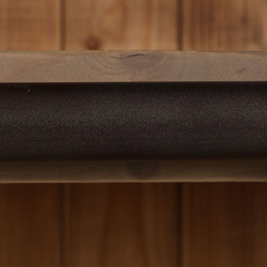 Bibliothèque 3 modules avec échelle en épicéa massif brun fumé grisé - Natural