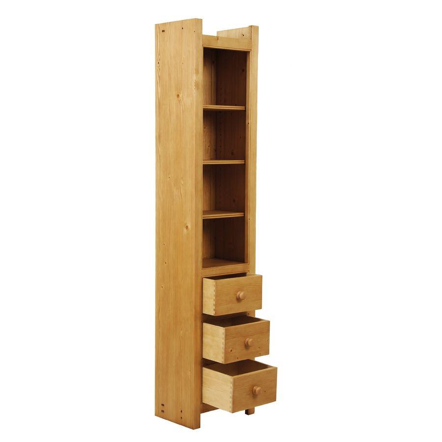 Bibliothèque modulable 3 tiroirs - Natural