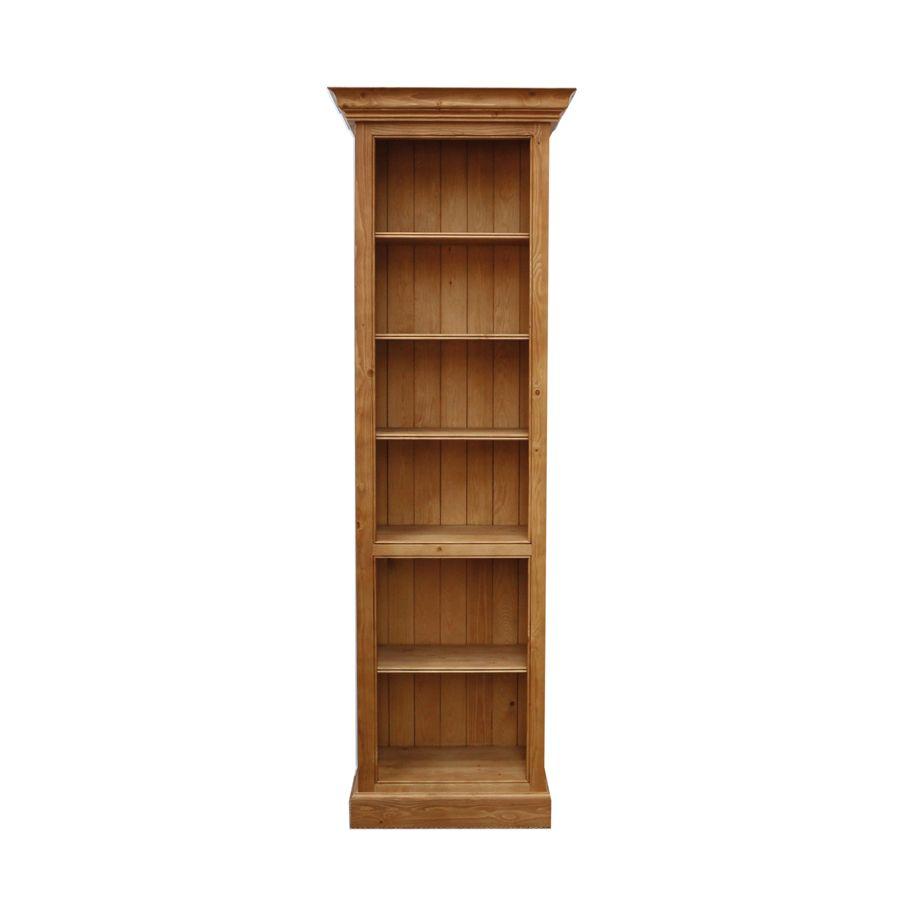 Bibliothèque modulable en épicéa naturel ciré - Natural