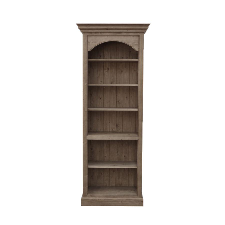 Bibliothèque ouverte en épicéa brun fumé grisé H212 cm - Natural