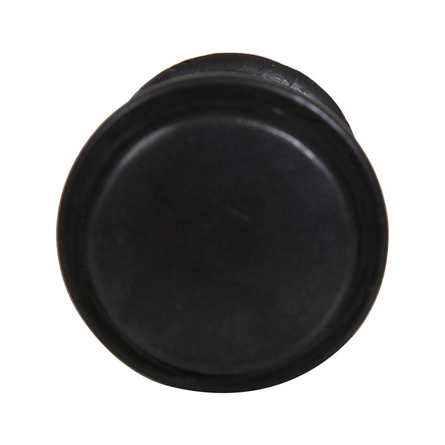 Bouton de meuble en métal noir
