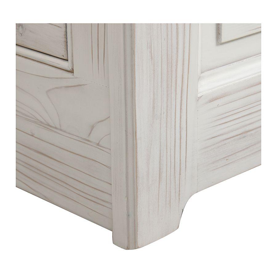 Lit enfant à tiroirs 90x190 cm en épicéa massif nuage de blanc - Natural