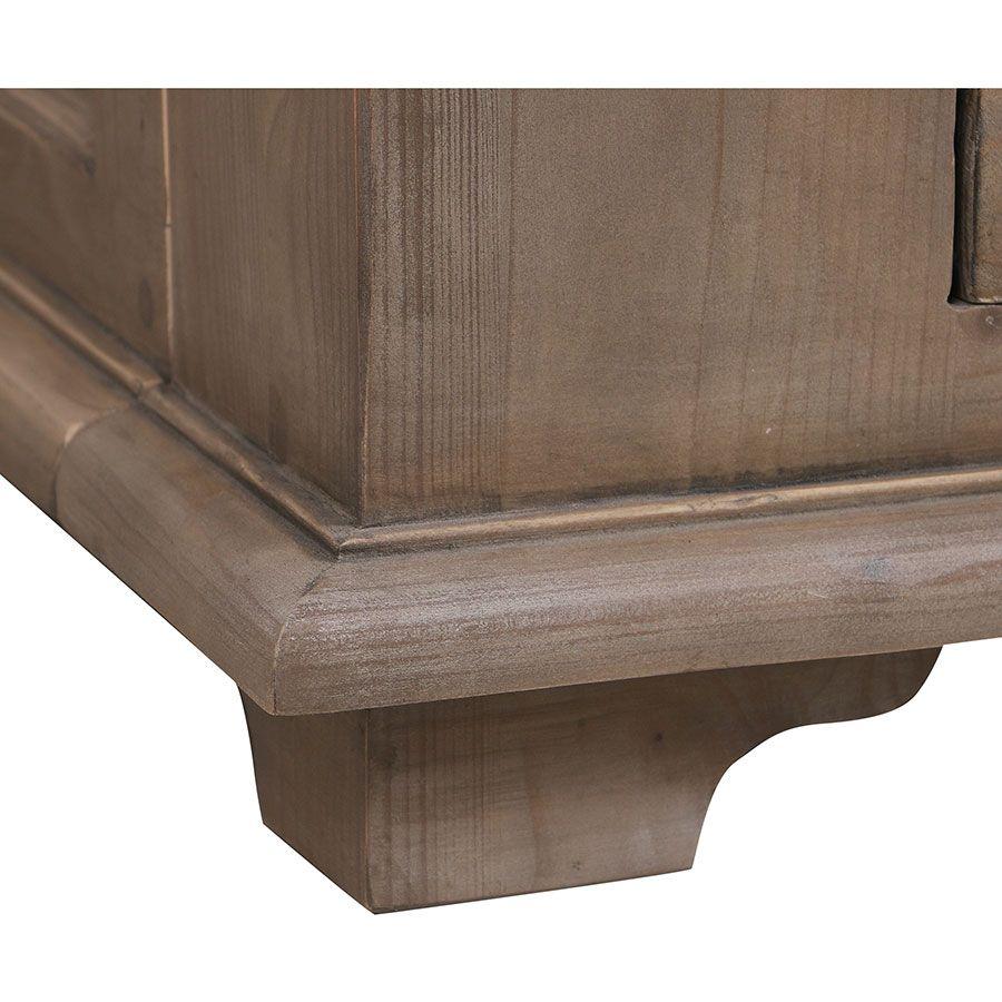 Lit 140x200 avec tiroirs en épicéa brun fumé grisé - First