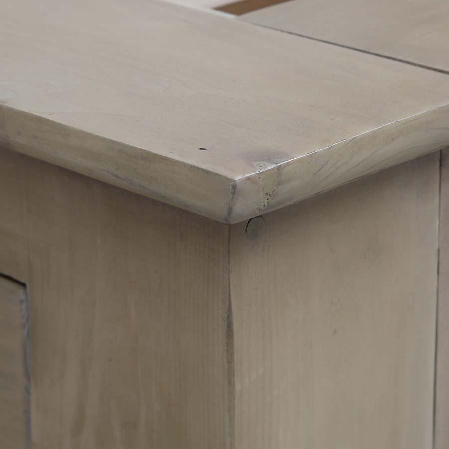 Lit 180x200 avec tiroirs en épicéa naturel cendré - First