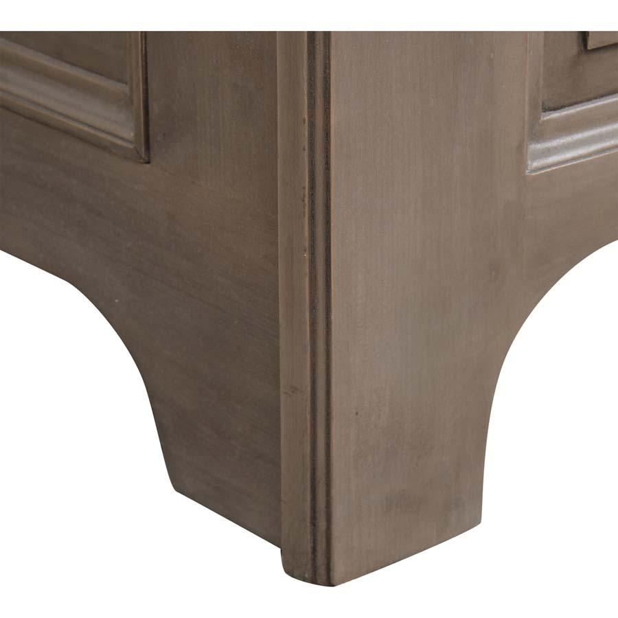Lit 160x200 avec tiroirs en épicéa massif brun fumé grisé - Natural