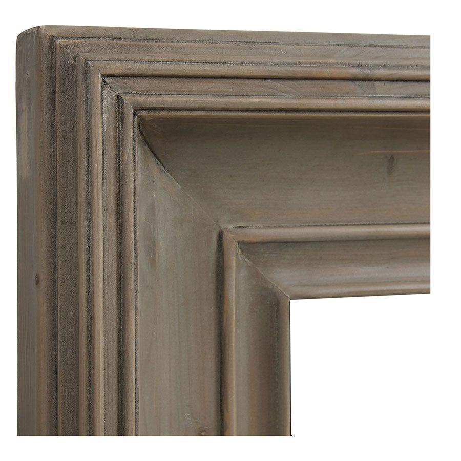 Miroir rectangulaire en épicéa brun fumé grisé - Natural
