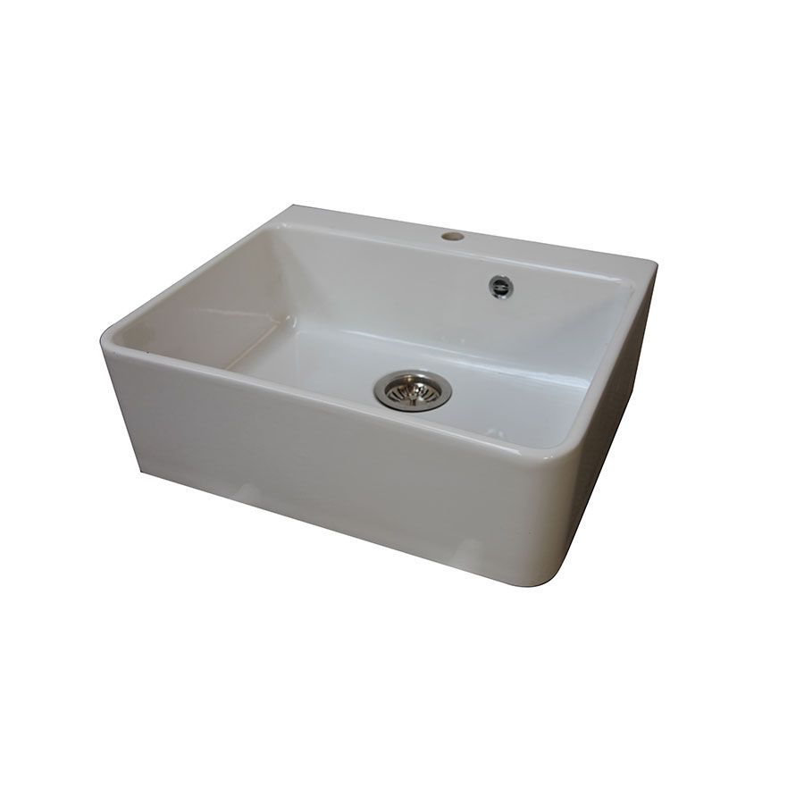 Évier blanc en céramique - Brocante