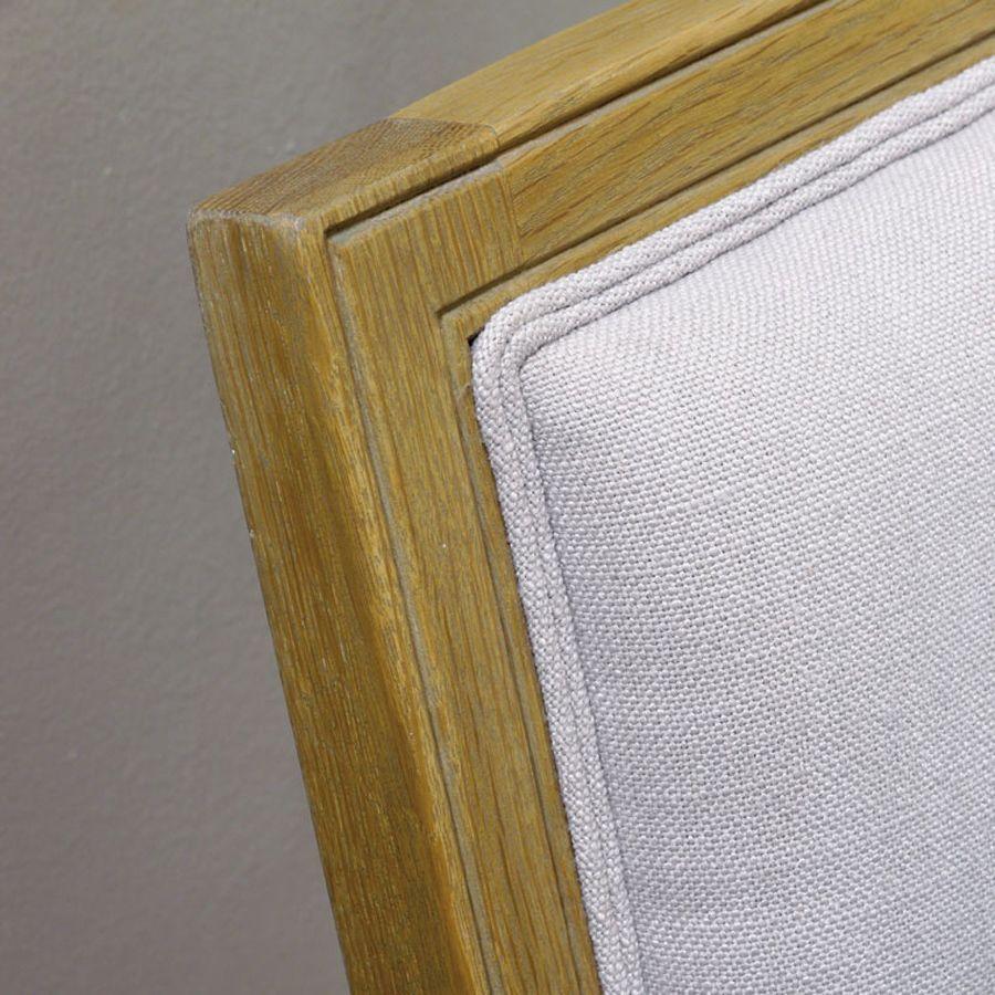 Tête de lit 160 en chêne massif et tissu - Mathilde