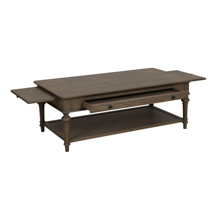 Table basse rectangulaire en chêne naturel fumé - Domaine
