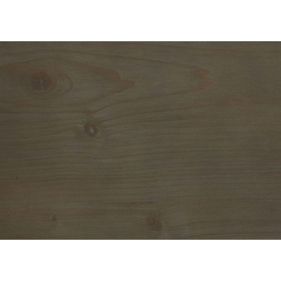 Lit 160x200 cm en épicéa massif brun fumé grisé - Vénitiennes