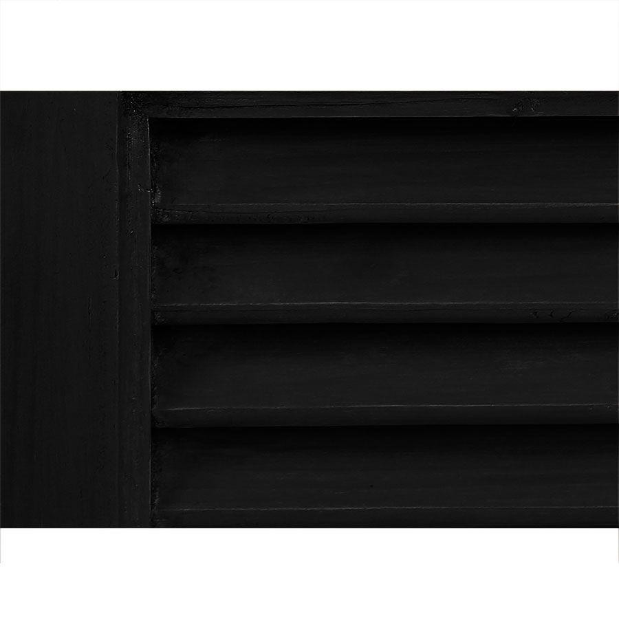 Commode noire 4 tiroirs en épicéa massif - Vénitiennes