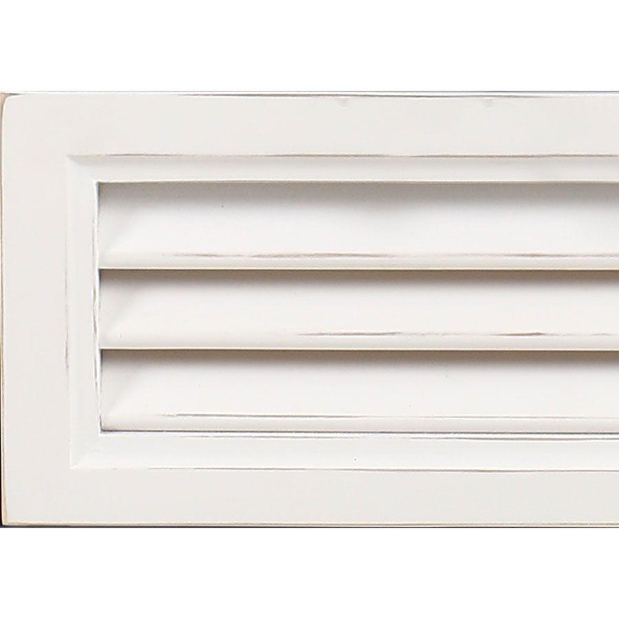 Table de chevet blanche 3 tiroirs en épicéa - Vénitiennes