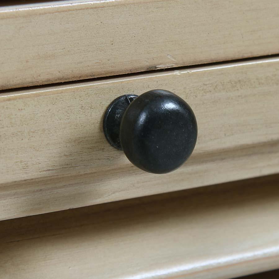Table de chevet en épicéa massif 3 tiroirs - Vénitiennes