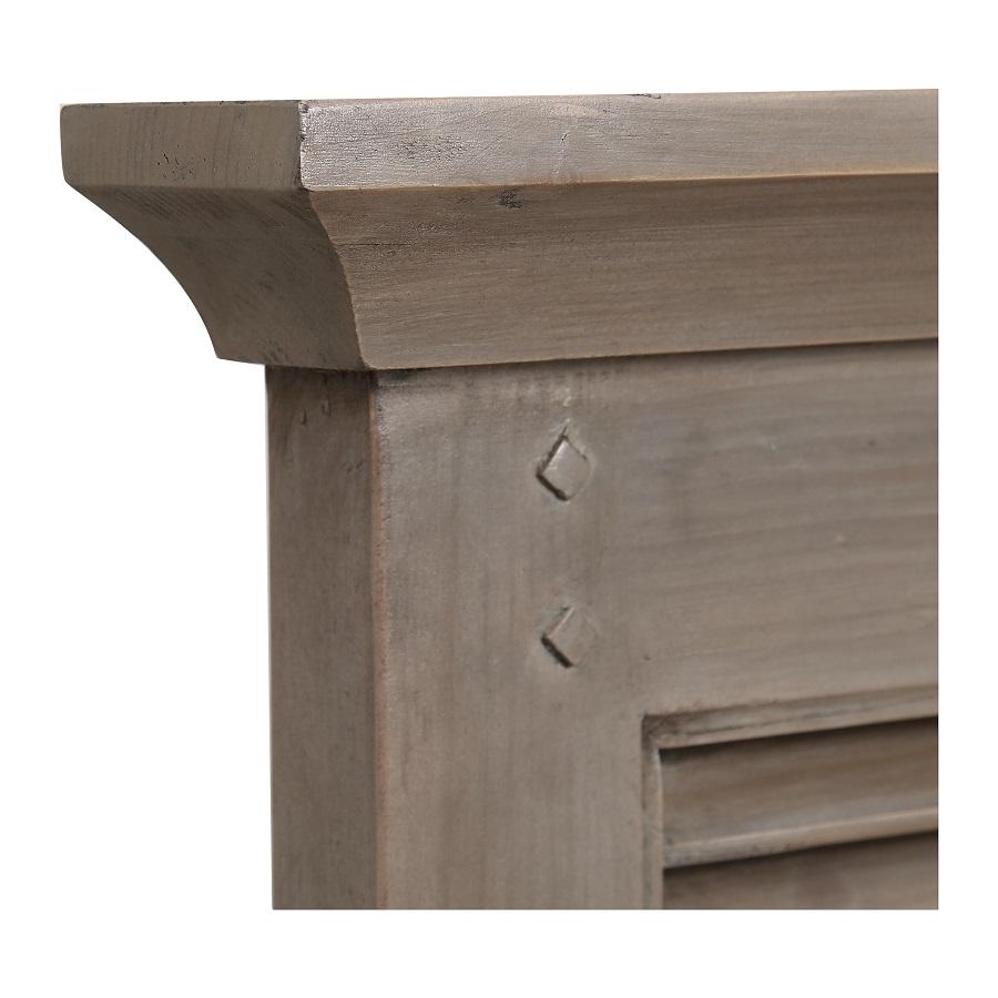 Tête de lit 180 en épicéa massif brun fumé grisé - Vénitiennes