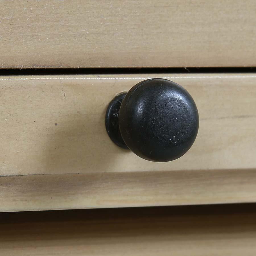 Commode chiffonnier 6 tiroirs en épicéa massif naturel cendré - Vénitiennes