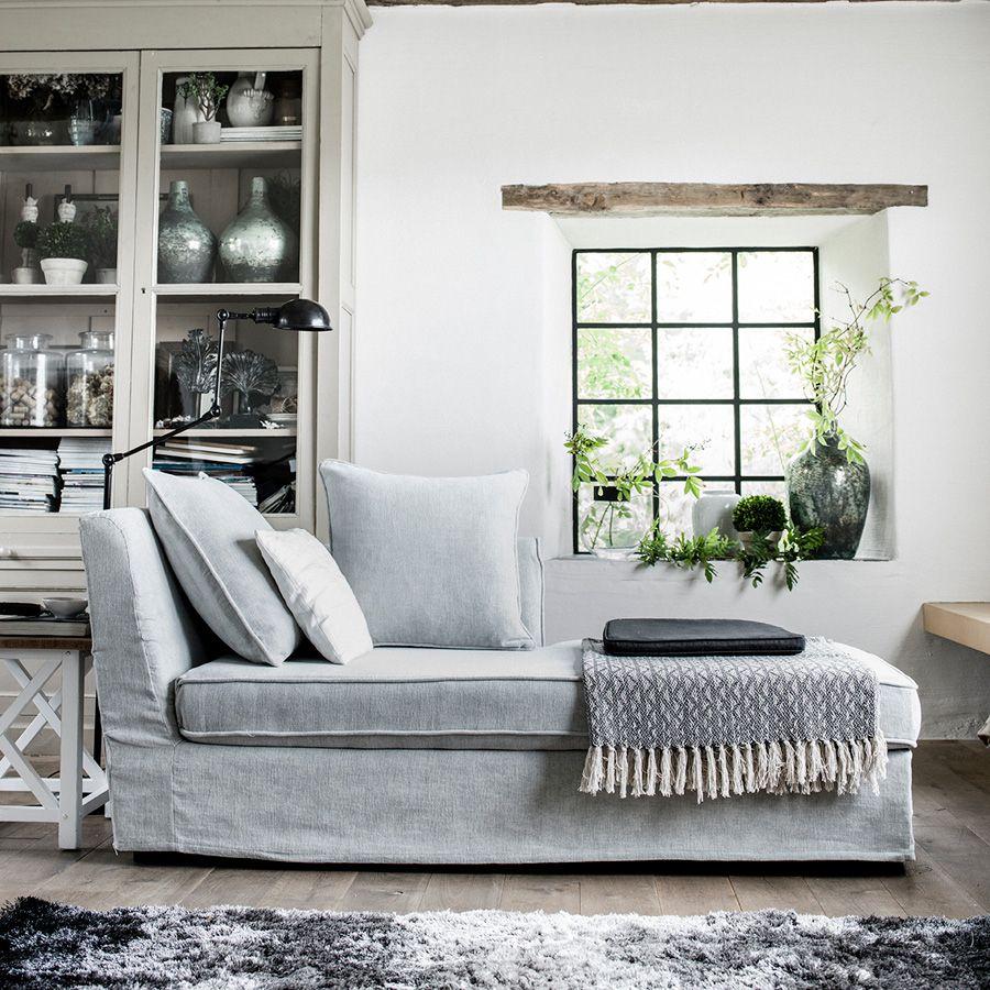 Bout de canapé blanc en épicéa massif - Vénitiennes