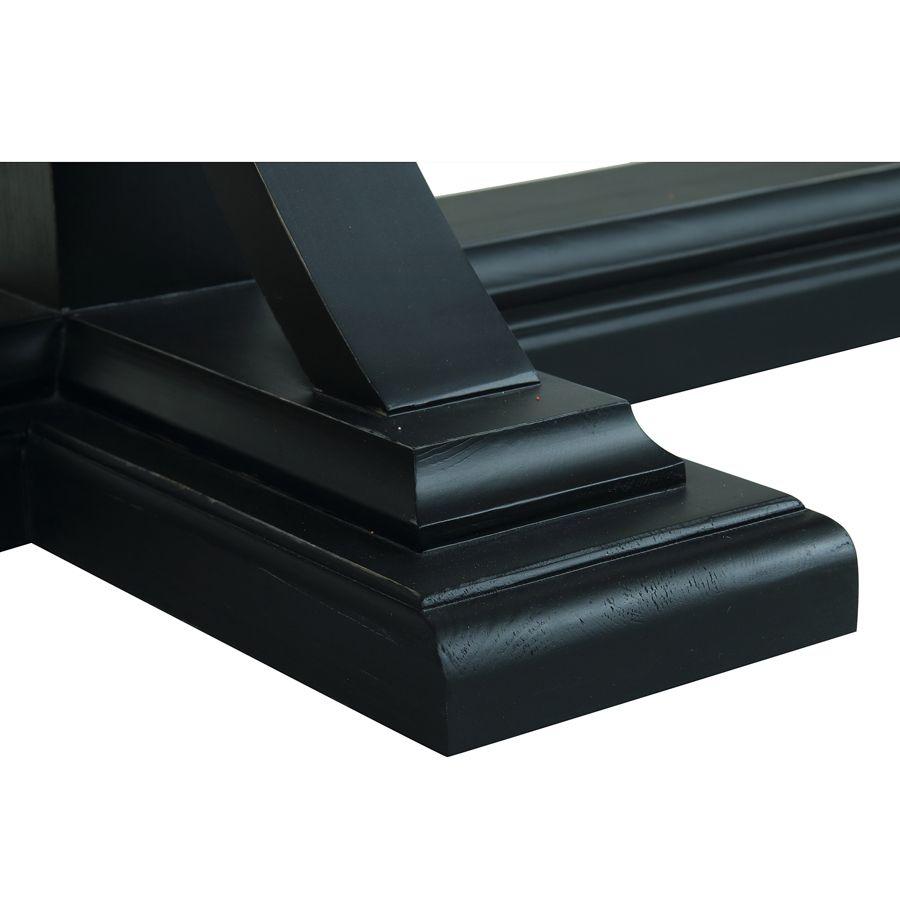 Console noire en épicéa massif - Vénitiennes
