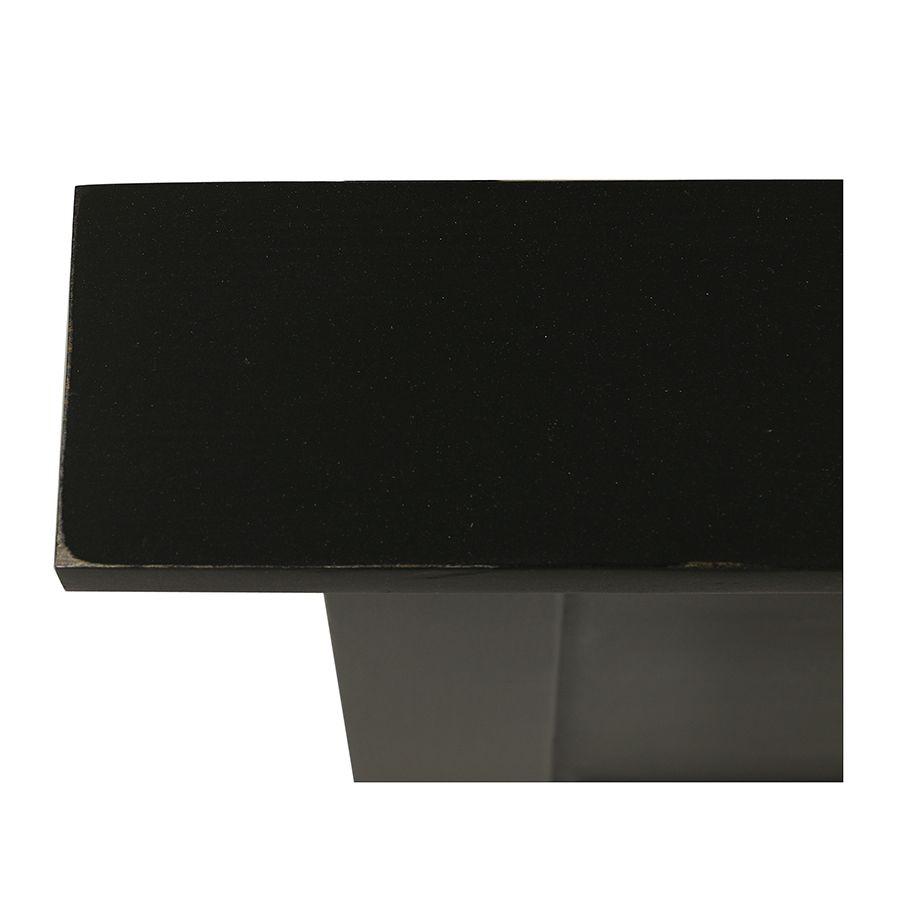Lit 180x200 en épicéa massif noir vieilli - Vénitiennes