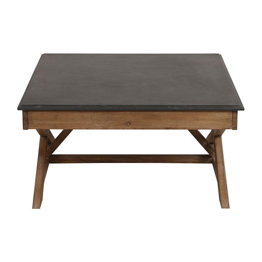 Table basse carrée contemporaine en acacia - Horizon