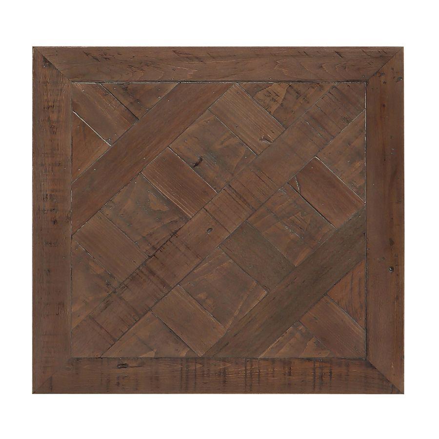 Bout de canapé industriel en bois recyclé et métal - Loft