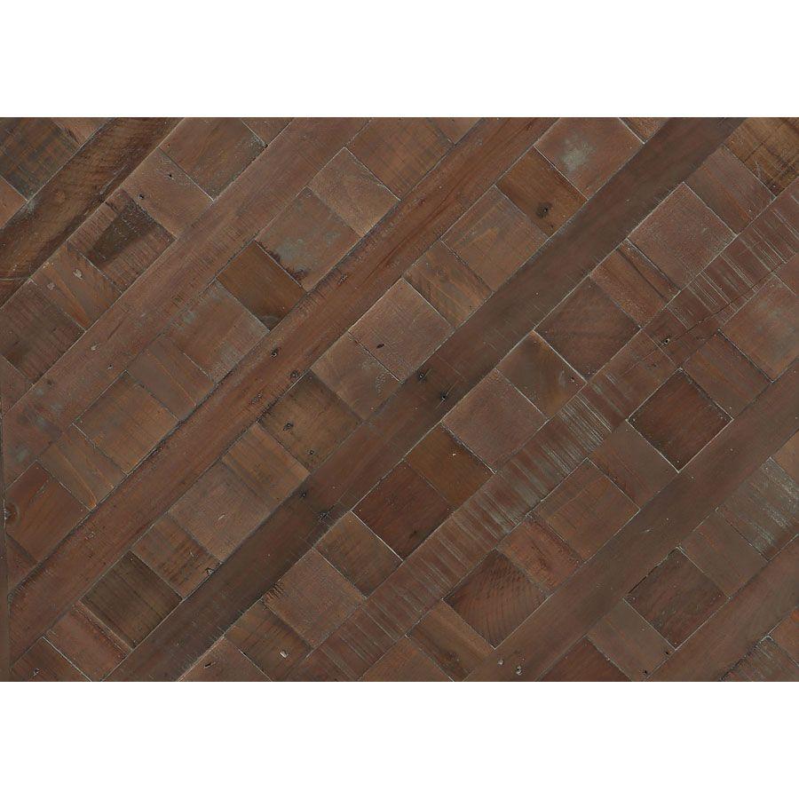 Console industrielle en bois recyclé et métal - Loft