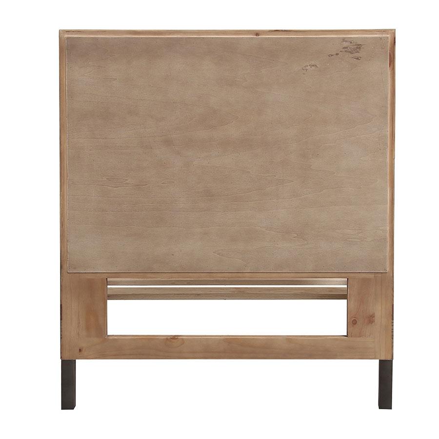Lit enfant industriel 90x190 en bois recyclé naturel grisé - Empreintes