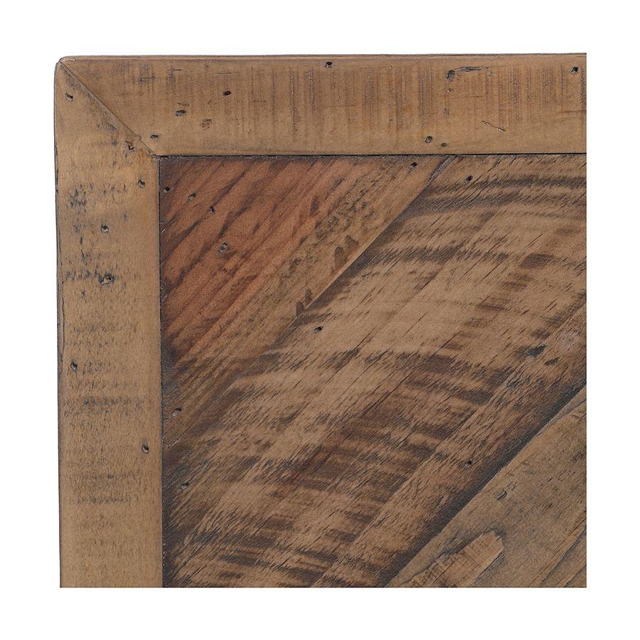 Lit industriel 180x200 en bois recyclé naturel grisé - Empreintes