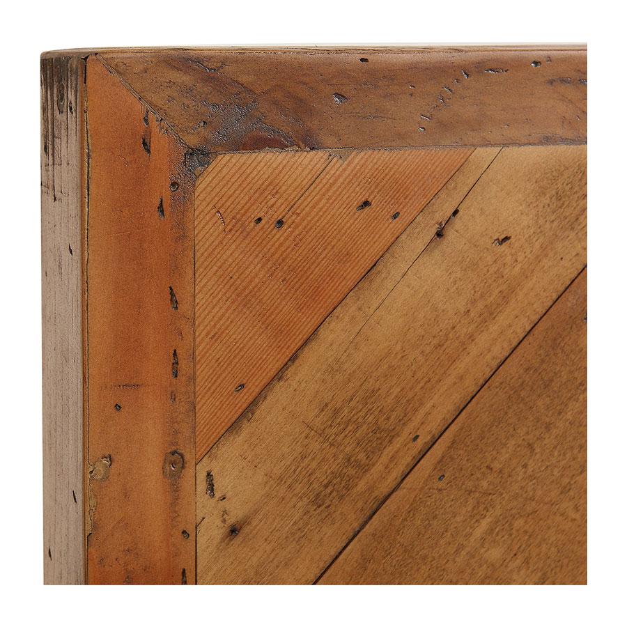Tête de lit 90 industrielle en bois recyclé ambré - Empreintes