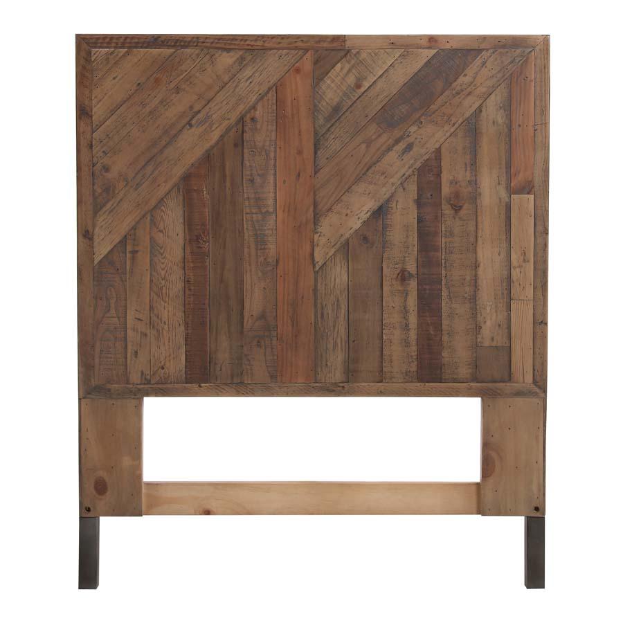 Tête de lit 90 industrielle en bois recyclé - Empreintes