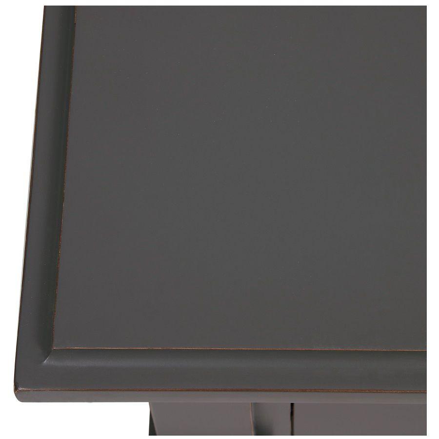 Table basse rectangulaire 4 tiroirs gris nuancé - Cénacle
