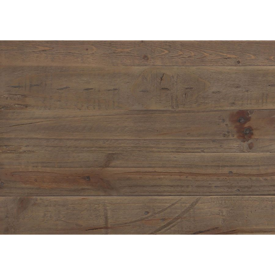 Commode blanche 5 tiroirs en bois recyclé - Rivages