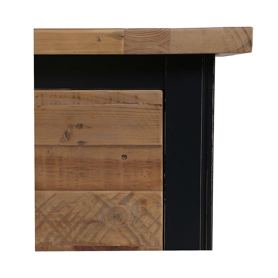 Commode bleue 5 tiroirs en bois recyclé - Rivages