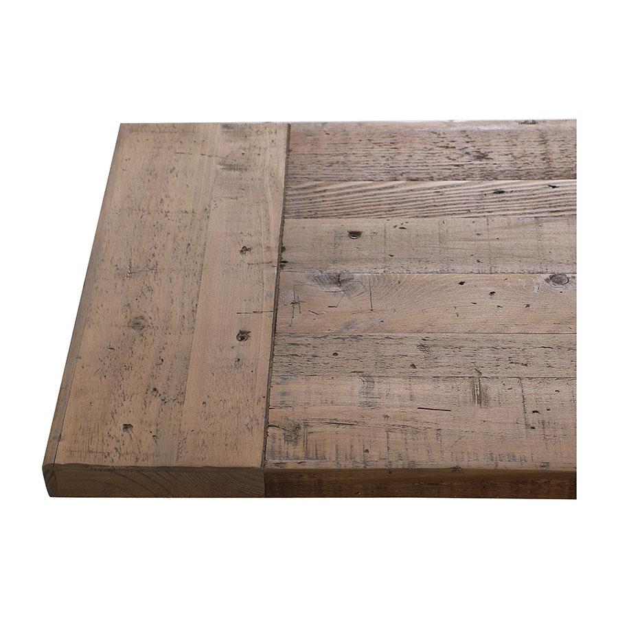 Banc bleu en bois recyclé L210 cm - Rivages