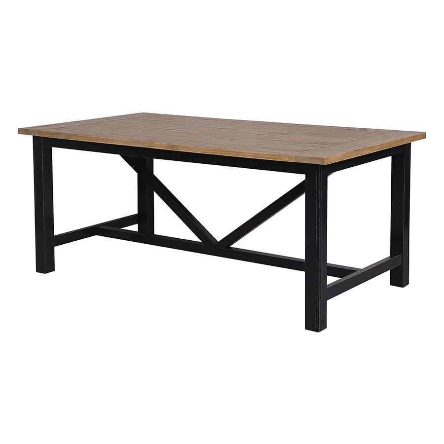 Table à manger rectangulaire bleue 6 à 8 personnes - Rivages